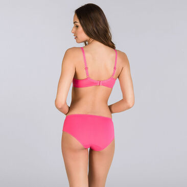 Brilliant pink printed Midi brief - Flower Elegance-PLAYTEX