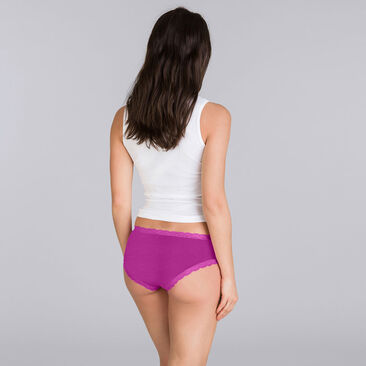 2 Pack purple floral briefs - Basic Cotton Fancy-PLAYTEX