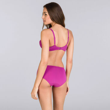 Purple fuchsia Midi briefs - Flower Elegance-PLAYTEX