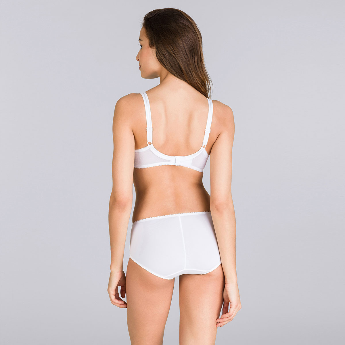 Midi Brief in White – Classic Lace Support-PLAYTEX