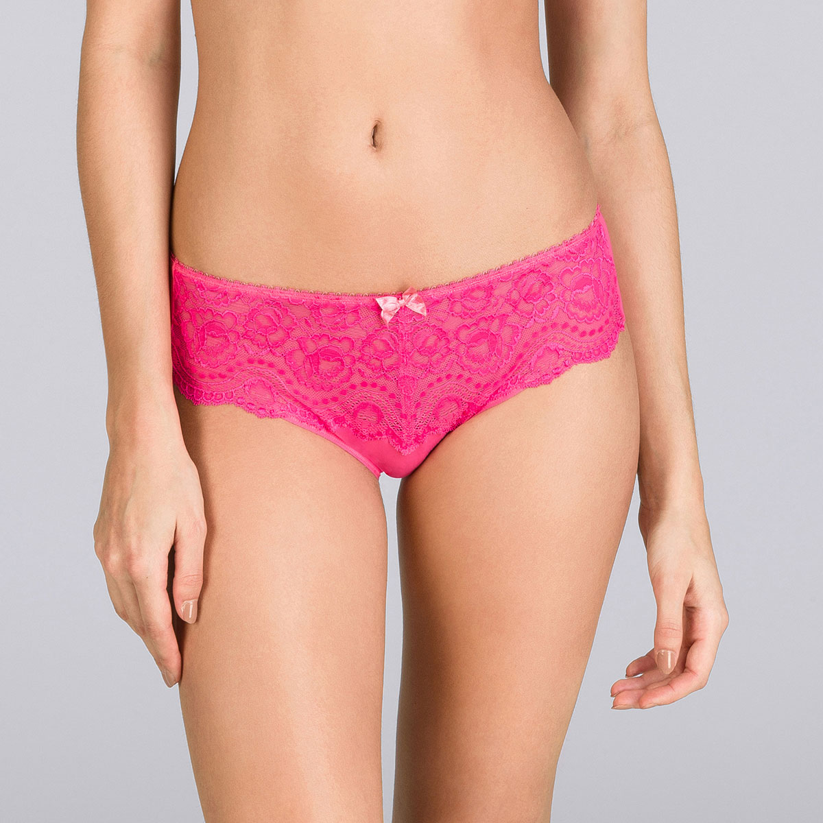 Brilliant pink Midi brief - Flower Elegance-PLAYTEX