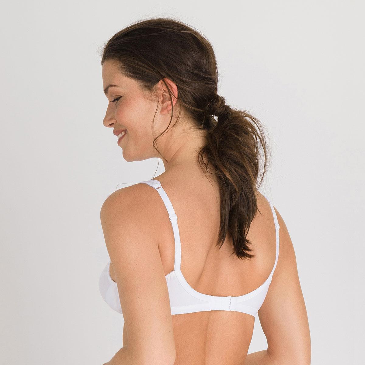 Wireless Bra in white – Cotton Support -PLAYTEX