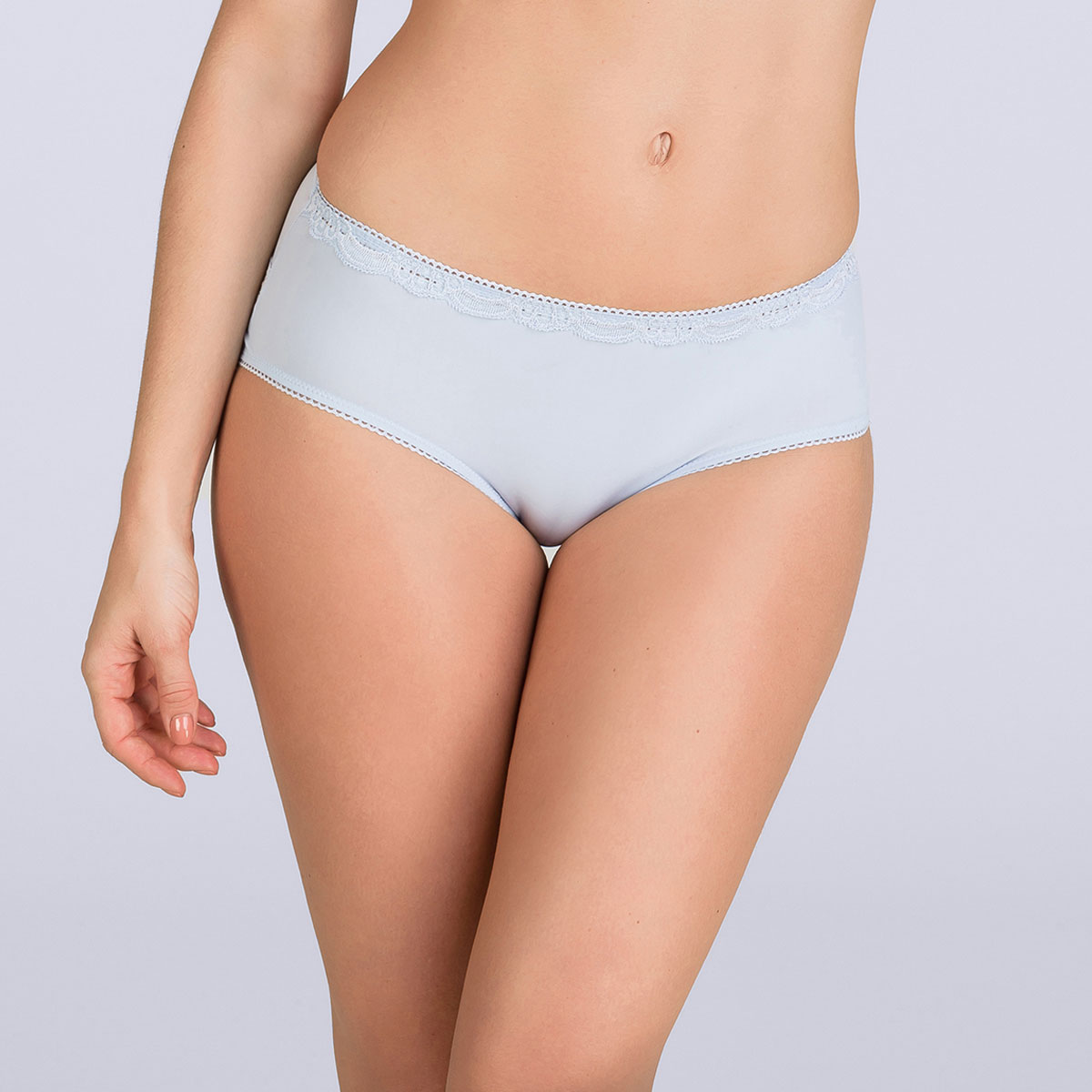 Lilac blue Midi brief - Invisible Elegance-PLAYTEX