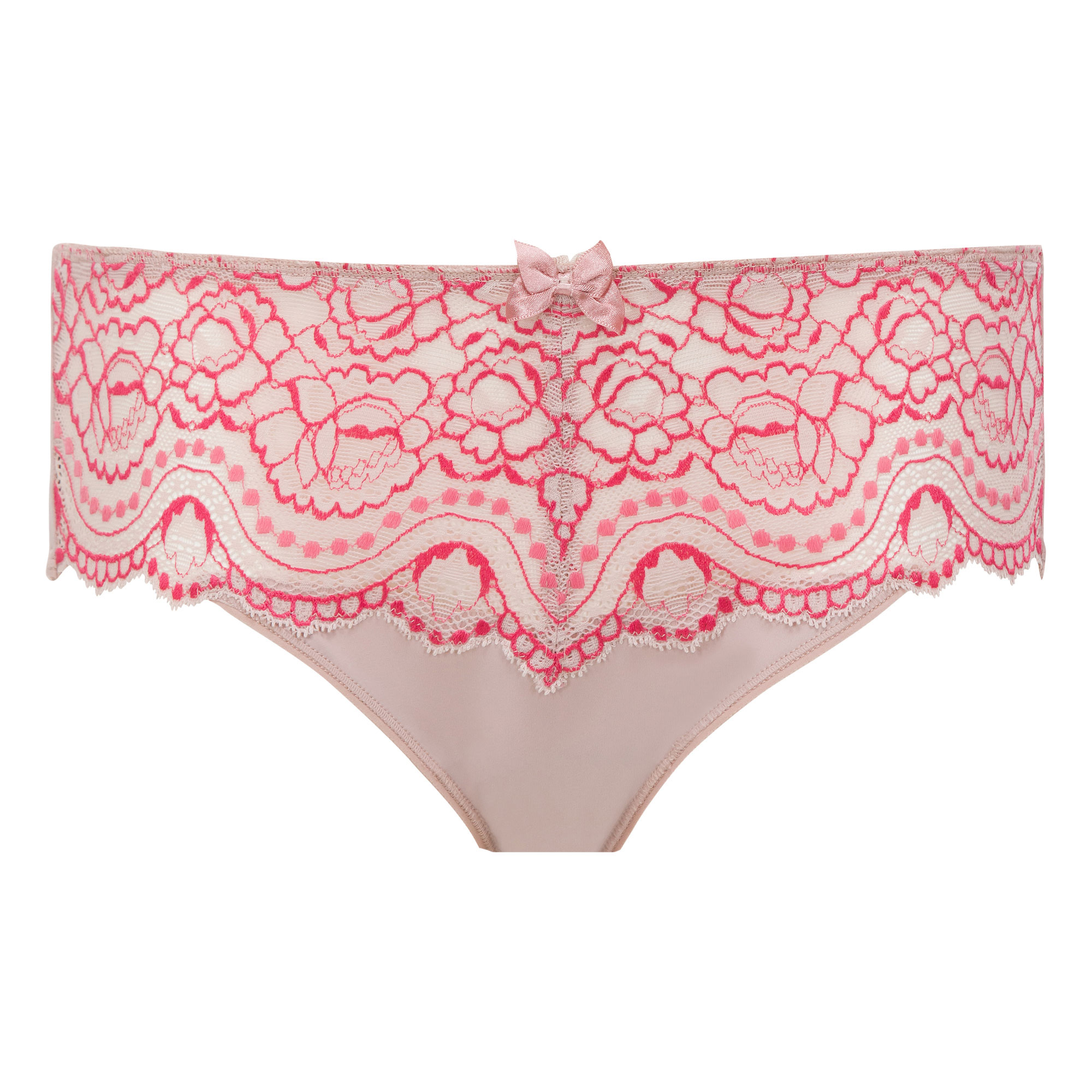 Pink and beige Midi brief - Flower Elegance-PLAYTEX