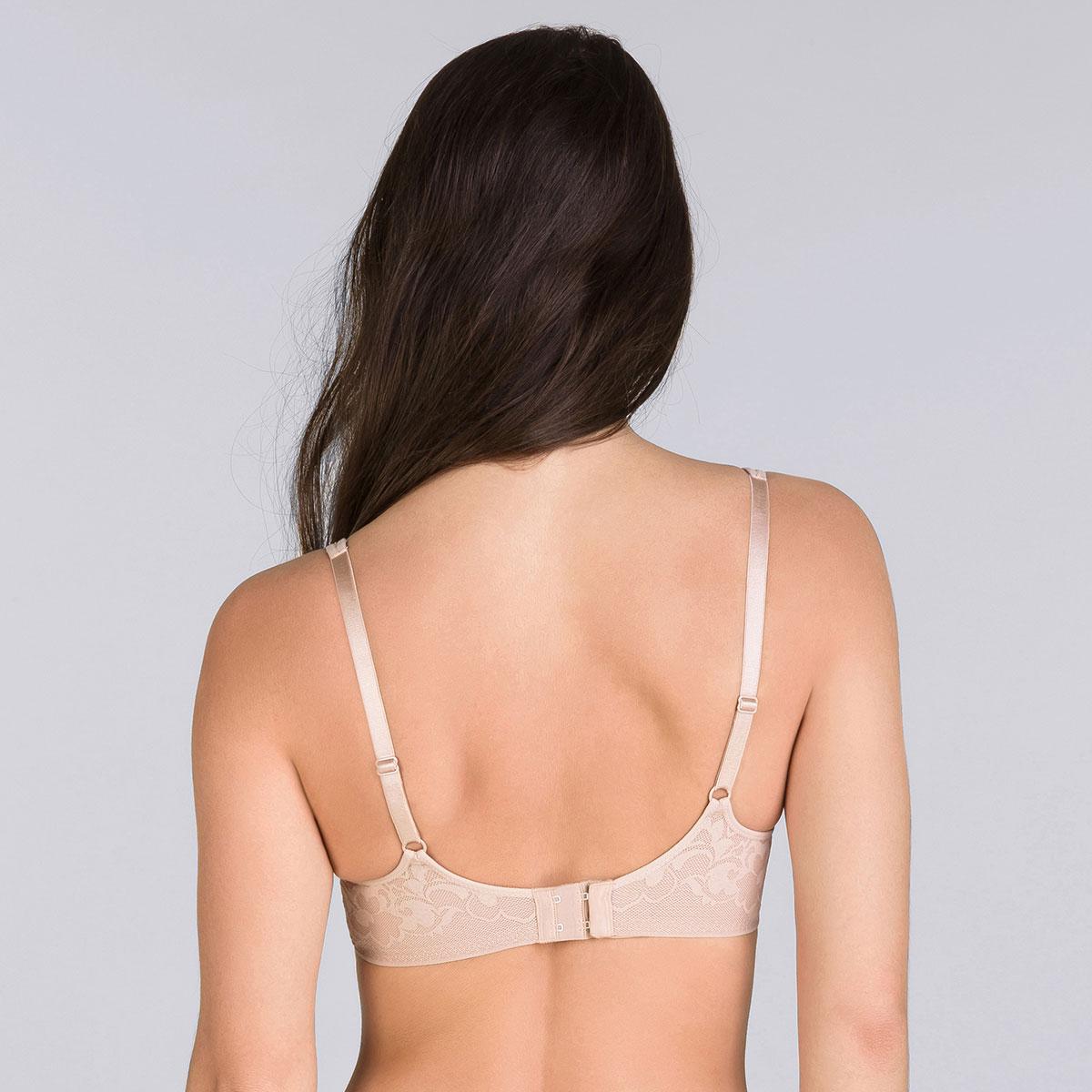 Beige underwired bra - Expert in Silhouette-PLAYTEX