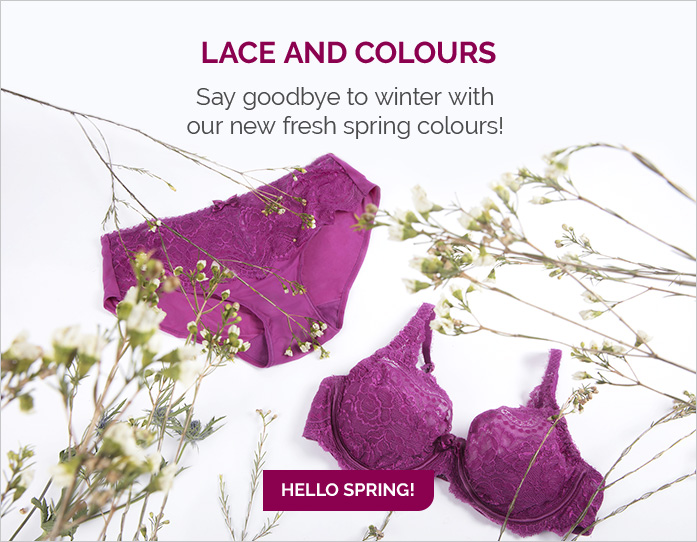 Lace and colours - Say goodbye to winter with our new fresh spring colours