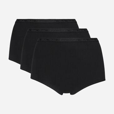 2 pack of black full briefs in organic cotton, , PLAYTEX