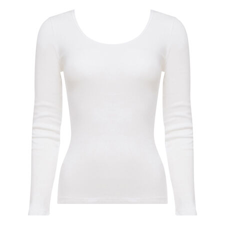 d1abd6f8b73 Long Sleeve Top in White - Cotton Liberty