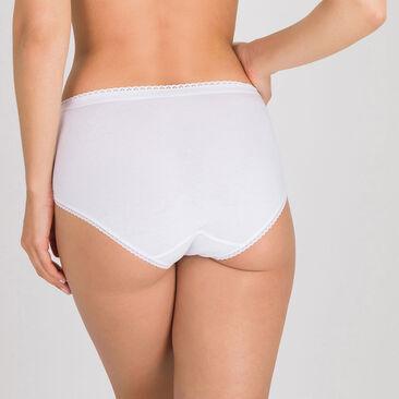 3  Midi Briefs in White – Stretch Cotton-PLAYTEX