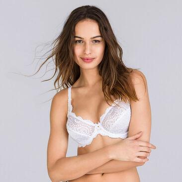 Full cup bra in white Flower Elegance, , PLAYTEX
