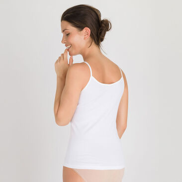 Camisole in White - Cotton Feminine-PLAYTEX