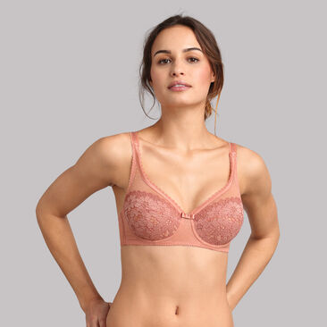 Underwired bra in terracotta - Classic Lace Support, , PLAYTEX