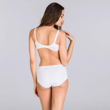 Non-wired Bra in White – Basic Cotton Support-PLAYTEX