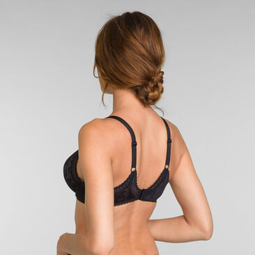 Foulard Full Cup Bra in Black Lace - Invisible Elegance, , PLAYTEX