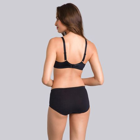 a7773cee0a3c6 2 non-wired Bras in Black   White– Basic Micro Support