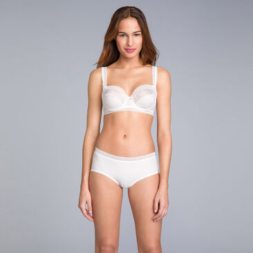 Balcony Bra in Antique White Lace - Invisible Elegance - PLAYTEX