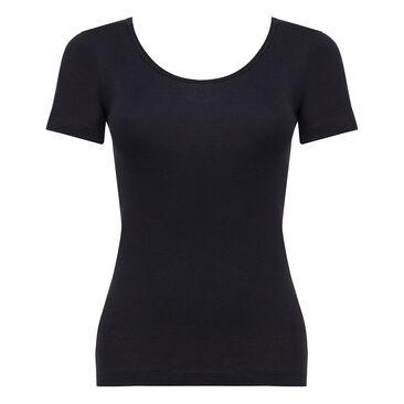 Short Sleeve Top in Black - Cotton Liberty-PLAYTEX