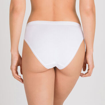 3 High-Leg briefs in White– Stretch Cotton-PLAYTEX