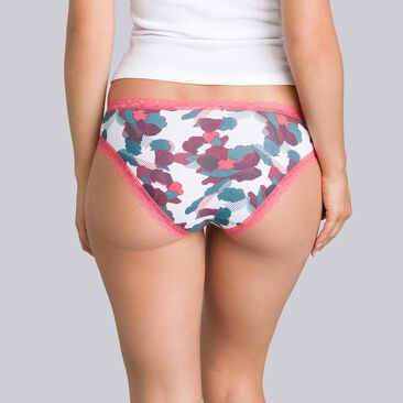 2 pairs of coral and floral-print briefs - Cotton Fancy-PLAYTEX