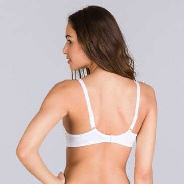 Full Cup Bra in White – Flower Elegance, , PLAYTEX