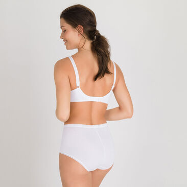 3 Maxi Briefs  in White – Cotton & Lace-PLAYTEX