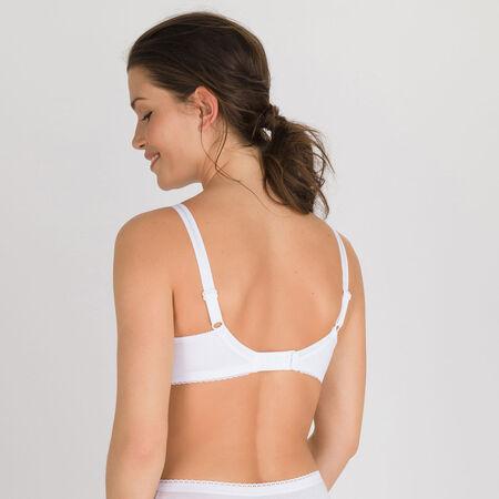 dd70eaea87 Non-wired Bra in White – Classic Cotton Support