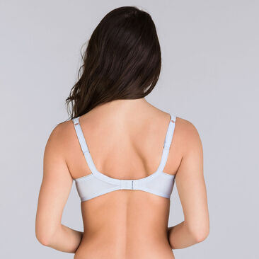 Lilac blue balconette bra - Invisible Elegance-PLAYTEX