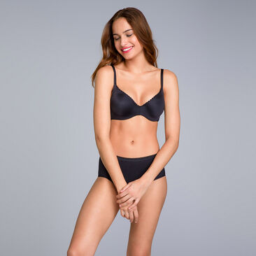 Black Bra - amovible wires - 24H Soft Absolu-PLAYTEX