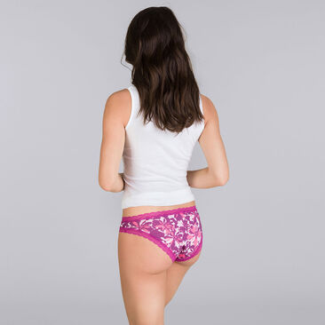 2 Pack purple floral briefs - Basic Cotton Fancy-PLAYTEX