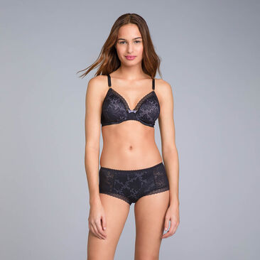 Foulard Full Cup Bra in Black Lace - Invisible Elegance - PLAYTEX