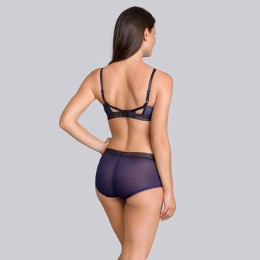 Navy blue & black Non-wired bra - Smoking Chic-PLAYTEX