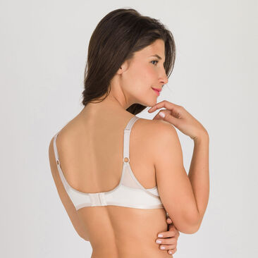 Non-wired bra in antique white Ideal Beauty, , PLAYTEX
