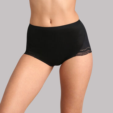 High rise knickers in black lace - Secret Comfort, , PLAYTEX