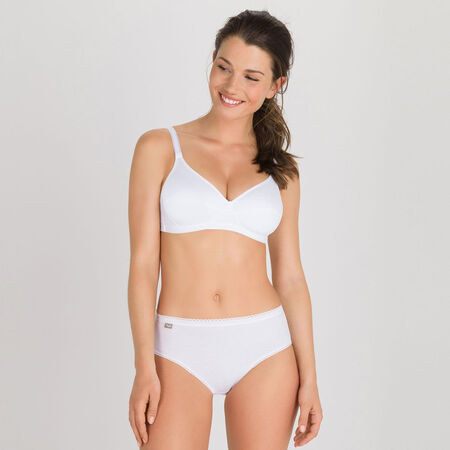 c3c7244ce09be 2 non-wired Bras in White– Basic Micro Support