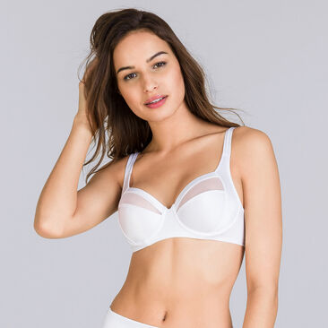Full Cup Bra in White – Perfect Silhouette, , PLAYTEX