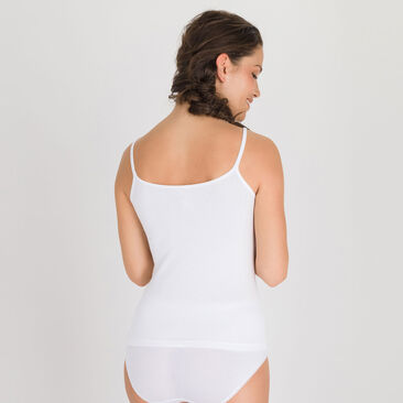 Camisole in White - Cotton Liberty-PLAYTEX