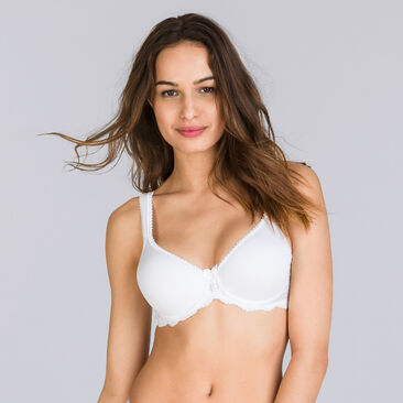 Non-wired Spacer Bra in White – Flower Elegance, , PLAYTEX
