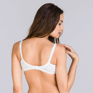 Non-wired Bra in White – Basic Cotton Support-PLAYTEX