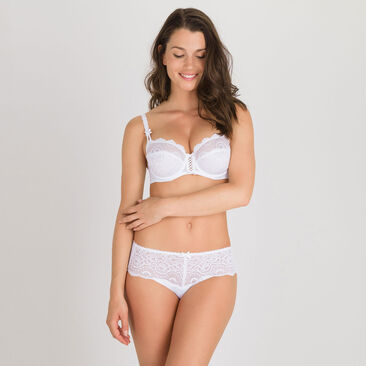 Balcony Bra in White – Flower Elegance-PLAYTEX