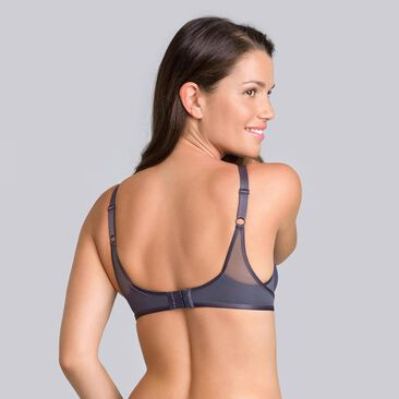 Steel grey non-wired bra - Ideal Beauty-PLAYTEX