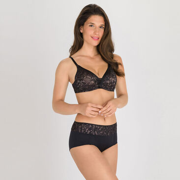Shorts in Black and Grey - Ideal Beauty Lace, , PLAYTEX