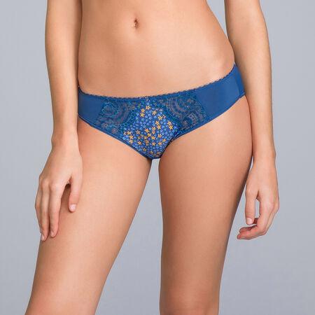 Bikini Knickers in Lace   Microfibre Navy Blue Print - Flower Elegance c4e425cc8