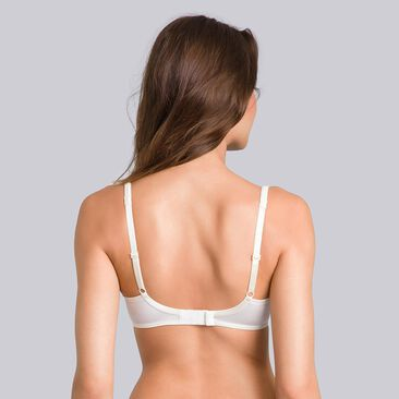Full Cup Underwired Bra in Ivory - Satiny Micro-Support-PLAYTEX