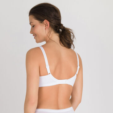 Non-wired Bra in White – Classic Cotton Support-PLAYTEX