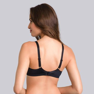 2 Non-wired bras in black & white Basic Micro Support, , PLAYTEX