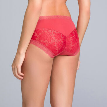 Midi Knickers in Heritage Red Lace - Invisible Elegance - PLAYTEX