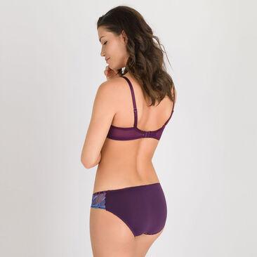 Balcony Bra in Purple Print - Daily Elegance-PLAYTEX