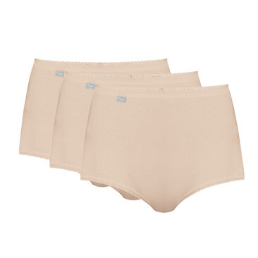 3 Cotton Maxi Briefs in nude – Stretch Cotton-PLAYTEX