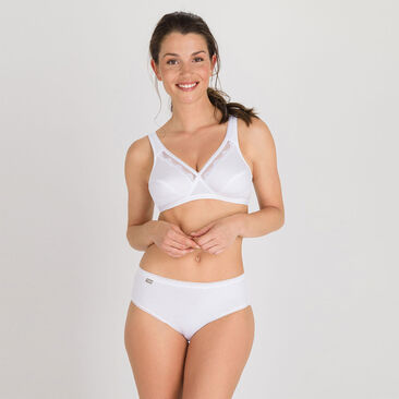 Wireless Bra in white – Cotton Support -PLAYTEX
