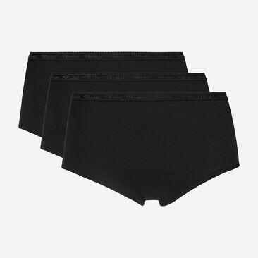 2 pack of black midi briefs in organic cotton, , PLAYTEX